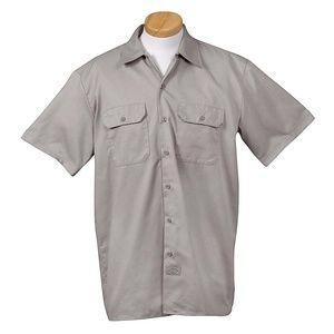 Dickies Silver Grey Short Sleeve Work Shirt Size M